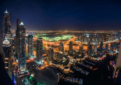 Picture no: 11491207 Dubai - Marina Skyline Panorama bei Nacht Created by: Jean Claude Castor