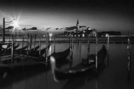 Picture no: 11491288 VENICE San Giorgio Maggiore Nightscape black and white Created by: Melanie Viola