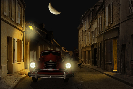 Picture no: 11511256 Die Altstadtgasse mit Oldtimer Created by: Mausopardia