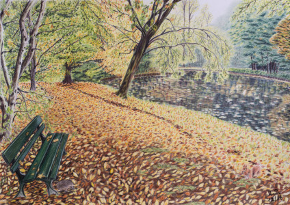 Picture no: 11543454 Herbst im Park Created by: GingitFineArt