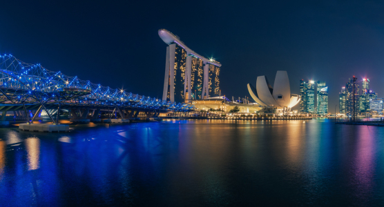 Picture no: 11555238 Singapur - Marina Bay Skyline Panorama bei Nacht Created by: Jean Claude Castor