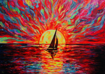 Picture no: 11560448 Sunset at Sea - Sonnenuntergang Created by: MargaritaArt