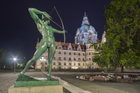 Picture no: 11567436 Neues Rathaus Hannover am Abend Created by: panoramarx-de