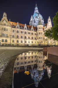 Picture no: 11567438 Neues Rathaus Hannover am Abend Created by: panoramarx-de