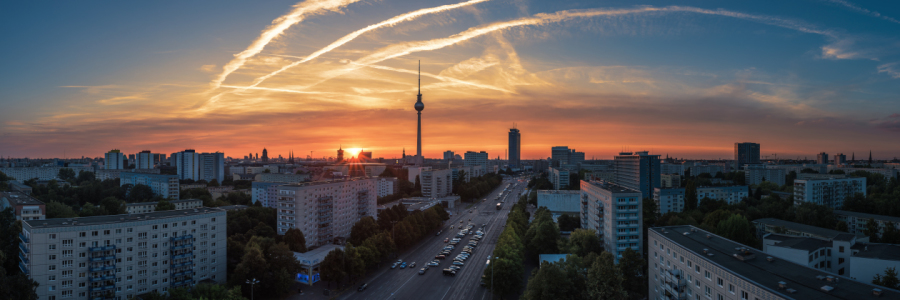Picture no: 11583542 Berlin - Skyline Sunset Panorama Strausberger Platz 2 Created by: Jean Claude Castor