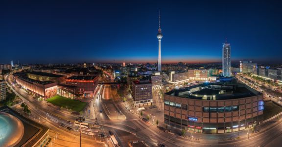 Picture no: 11588231 Berlin - Skyline Panorama Alexanderplatz zur blauen Stunde Created by: Jean Claude Castor