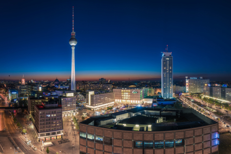Picture no: 11599348 Berlin - Skyline Alexanderplatz zur blauen Stunde Created by: Jean Claude Castor