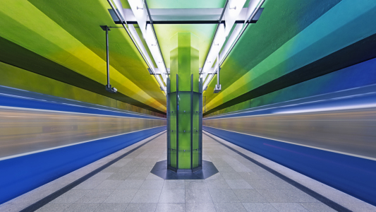 Picture no: 11600188 Candidplatz subway station in Munich Created by: Dieter Meyrl