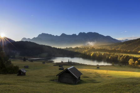 Picture no: 11601016 Sunrise at mountain lake in Alps - Geroldssee Created by: Dieter Dieter Meyrl