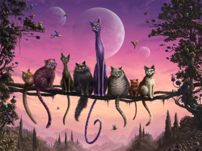 Picture no: 11714816 Cats In Heaven Created by: OceanPlanet