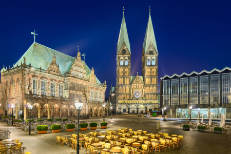 Picture no: 11746980 Bremen bei Nacht Created by: Mapics