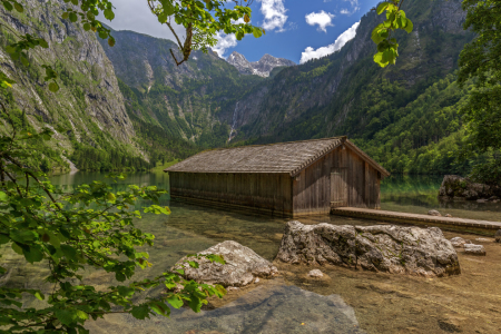 Picture no: 11800090 Obersee Berchtesgaden Berge Bootshaus See Created by: Thomas Herzog