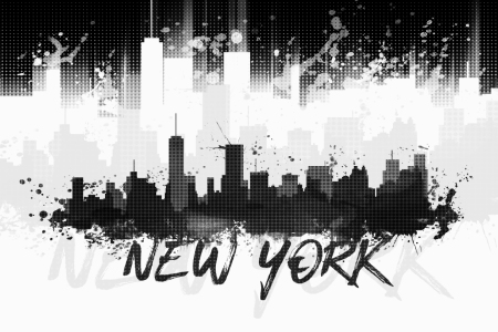 Picture no: 11835765 Graphic Art NYC Skyline Splashes II - schwarz   Created by: Melanie Viola