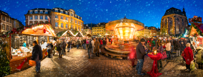Picture no: 11838819 Weihnachtsmarkt Panorama in Heidelberg Created by: eyetronic