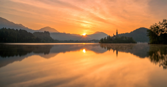 Picture no: 11873909 Bled bei Sonnenuntergang Created by: Graphitone