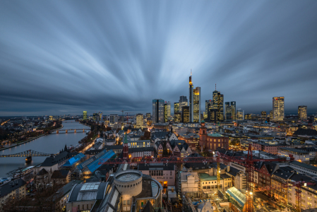 Picture no: 11887861 Frankfurt Skyline zur blauen Stunde Created by: Robin-Oelschlegel-Photography