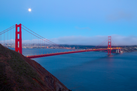 Picture no: 11894250 Vollmond über der Golden Gate Bridge Created by: DirkR