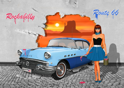 Picture no: 11901756 Street Art Rockabilly Route 66 Created by: Mausopardia