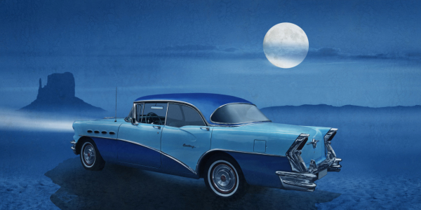 Picture no: 11901760 Blue night on Route 66 Created by: Mausopardia