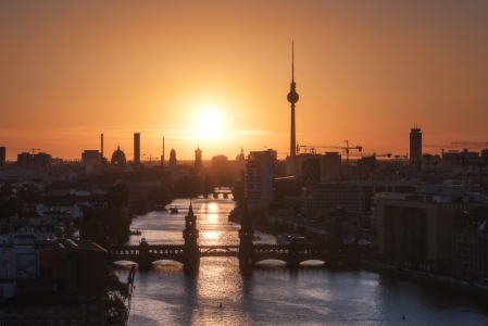 Picture no: 11913659 Berlin - Skyline Sunset Panorama Created by: Jean Claude Castor