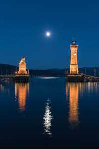 Picture no: 11914029 Vollmondnacht über Lindau am Bodensee Created by: Achim Thomae