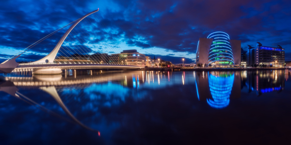 Picture no: 11935096 Dublin - Samuel Beckett Brücke Panorama Created by: Jean Claude Castor