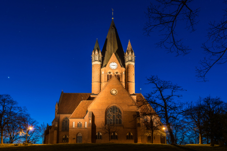 Picture no: 11955968 Pauluskirche in Halle-Saale am Abend Created by: Martin Wasilewski