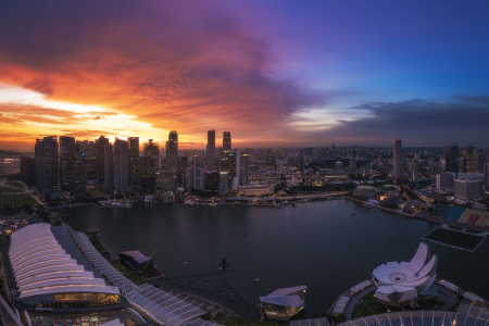 Picture no: 11964706 Singapur - Marina Bay Sunset Created by: Jean Claude Castor