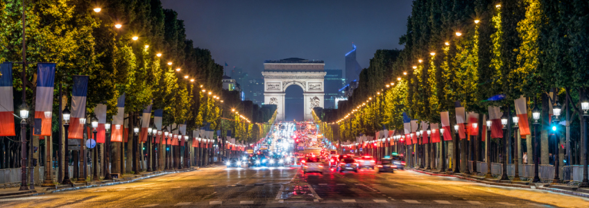 Picture no: 11969868 Champs Elysees und Arc de Triomphe in Paris Created by: eyetronic