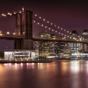 Picture no: 11982677 BROOKLYN BRIDGE Impressionen bei Nacht  Created by: Melanie Viola