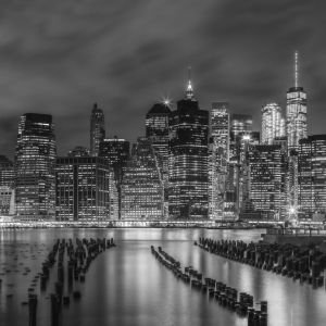 Picture no: 11986134 NEW YORK CITY Monochrome Impression bei Nacht  Created by: Melanie Viola