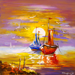Picture no: 11989207 Sailboats anchored Created by: olha darchuk