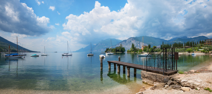 Picture no: 11998147 Bucht am Gardasee mit Segelbooten Created by: SusaZoom