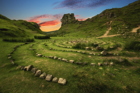 Picture no: 11999673 Schottland Fairy Glen Sonnenuntergang Created by: Jean Claude Castor