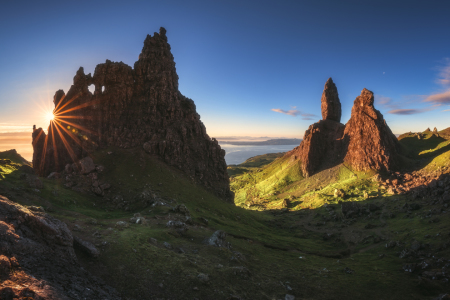 Picture no: 12000561 Schottland Old Man of Storr Sonnenaufgang Panorama Created by: Jean Claude Castor