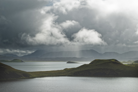 Picture no: 12003778 Island - Sonne und Regen am See Myvatn Created by: lichtjahr21