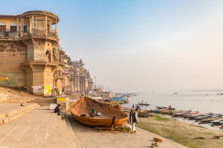 Picture no: 12009617 ghats at the Ganges river Varanasi India Created by: Marquardt