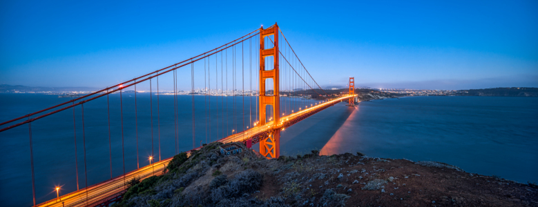 Picture no: 12014215 Golden Gate Bridge Panorama bei Nacht Created by: eyetronic