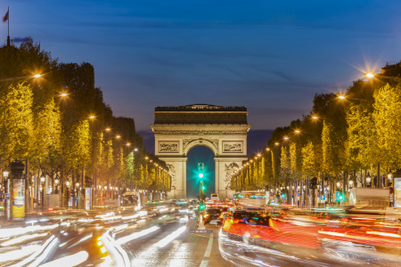 Picture no: 12019383 Champs-Elysees und Arc de Triomphe in Paris Created by: dieterich