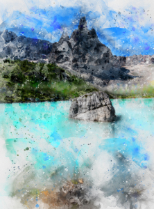 Picture no: 12056137 Dolomites Lake Created by: Graphitone