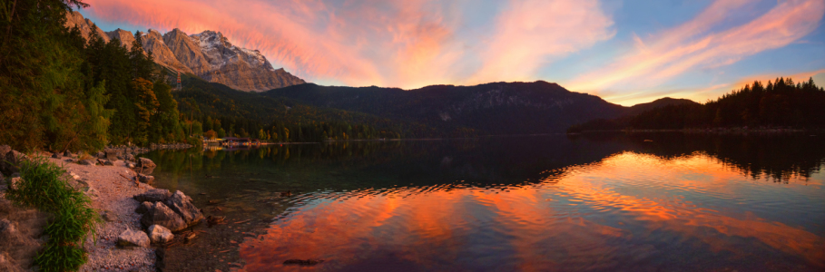 Picture no: 12102031 Eibsee Sunset Panorama korr Created by: SusaZoom