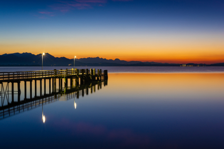 Picture no: 12160933 Steg am Chiemsee am Abend Created by: Martin Wasilewski