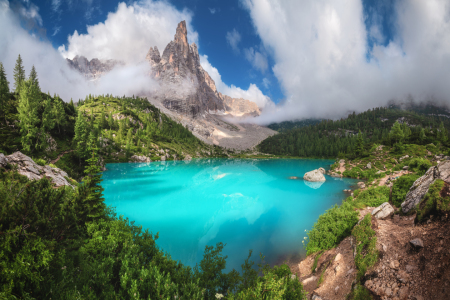Picture no: 12243709 Lago di Sorapis Alto Adige Panorama Created by: Jean Claude Castor
