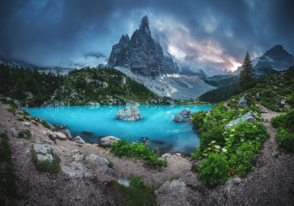 Picture no: 12245769 Lago di Sorapis Dolomiten Panorama am Abend Created by: Jean Claude Castor