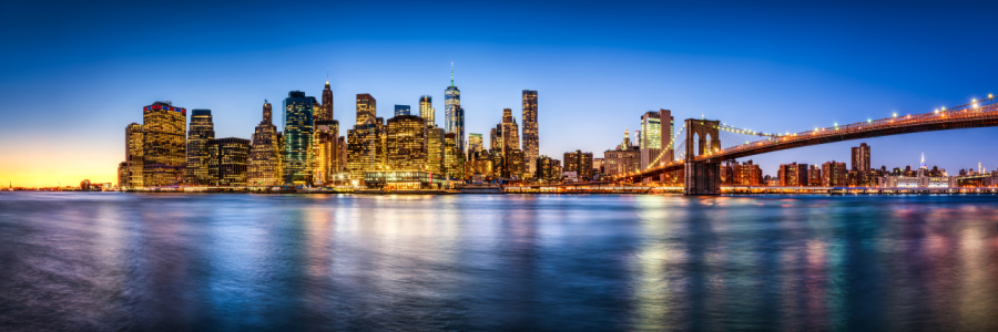 Picture no: 12259067 Manhattan Skyline Panorama mit Brooklyn Bridge Created by: eyetronic