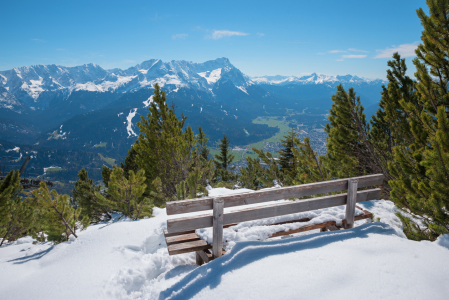 Picture no: 12273059 Aussichtsbank am Wank Winterlandschaft Bayern Created by: SusaZoom