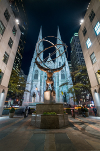 Picture no: 12328117 Atlas Statue vor der St Patrick s Cathedral Created by: eyetronic