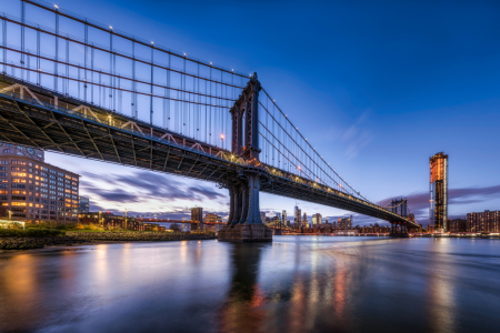 Picture no: 12329607 Manhattan Bridge bei Nacht Created by: eyetronic