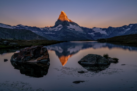 Picture no: 12352202 Sonnenaufgang am Matterhorn Created by: Achim Thomae