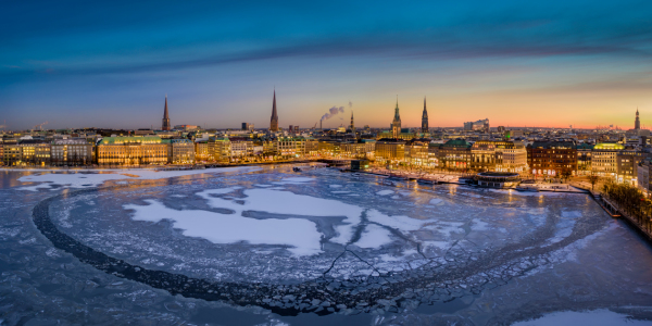 Picture no: 12391266 Winter Sonnenuntergang in Hamburg Created by: Mapics
